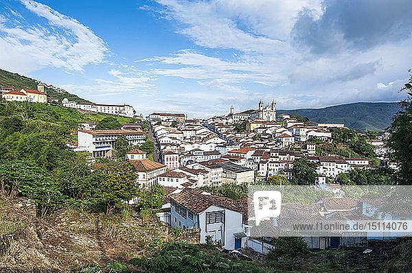 Blick auf die Kolonialstadt Ouro Preto  Minas Gerais  Brasilien