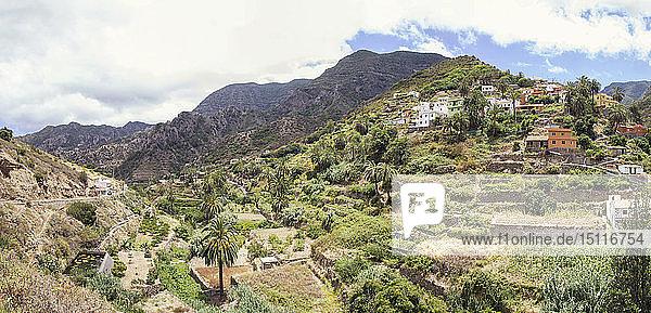 Tal von Vallehermoso  La Gomera  Kanarische Inseln  Spanien