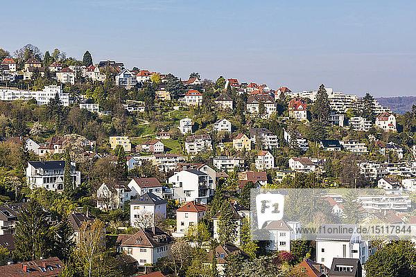 Germany  Stuttgart  Haigst  residential area with modern houses
