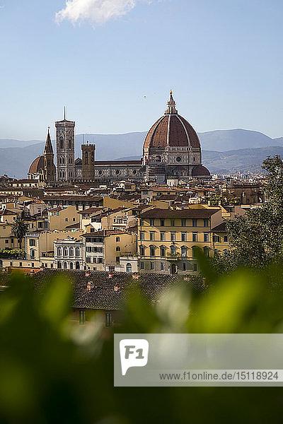 Blick auf die Kathedrale von Florenz  Florenz  Italien