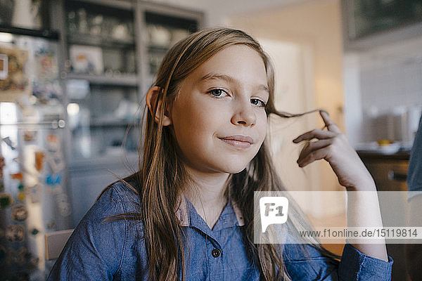 Portrait of girl at home
