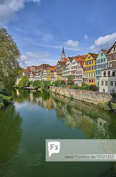 Häuser am Neckar  Tübingen  Baden-Württemberg  Deutschland