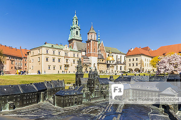 View of Wawel Cathedral at Wawel Royal Castle  UNESCO World Heritage Site  in the medieval old town  in Krakow  Poland  Europe