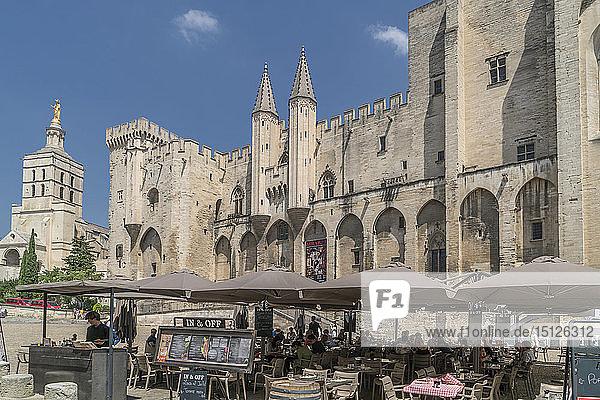 The Popes Palace  Avignon  UNESCO World Heritage Site  Vaucluse  Provence  France  Europe