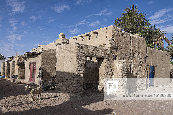 The desert town of Faya-Largeau  northern Chad  Africa