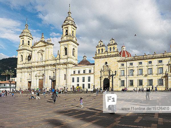 Catedral Primera de Bogota  Bogota Cathedral  Plaza de Bolivar  Bogota  Colombia  South America