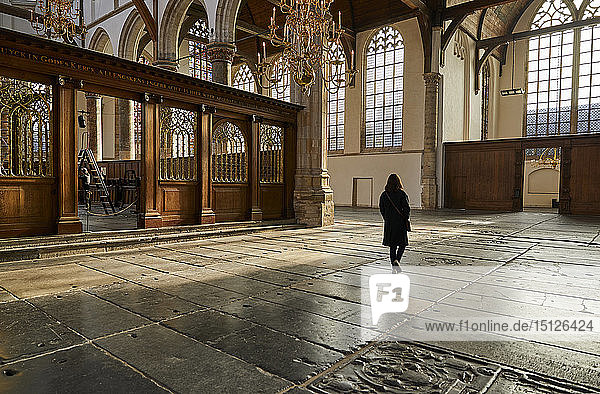 Interior of Oude Kerk (Old Church)  Amsterdam  North Holland  The Netherlands  Europe