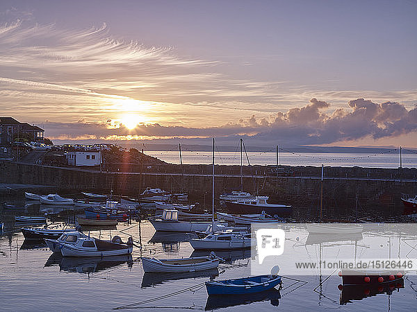 The picturesque fishing village of Mousehole  Cornwall  England  United Kingdom  Europe