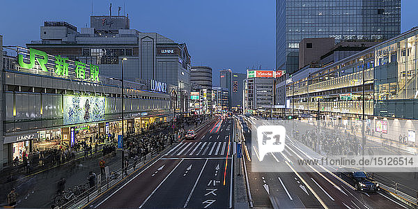 High rise buildings in central Tokyo  Japan  Asia