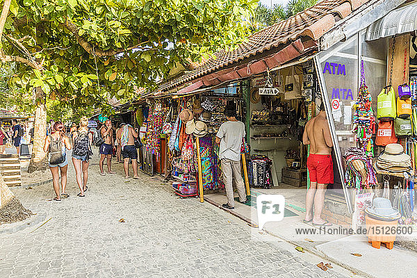 Walking Street in Railay  Ao Nang  Krabi Province  Thailand  Southeast Asia  Asia