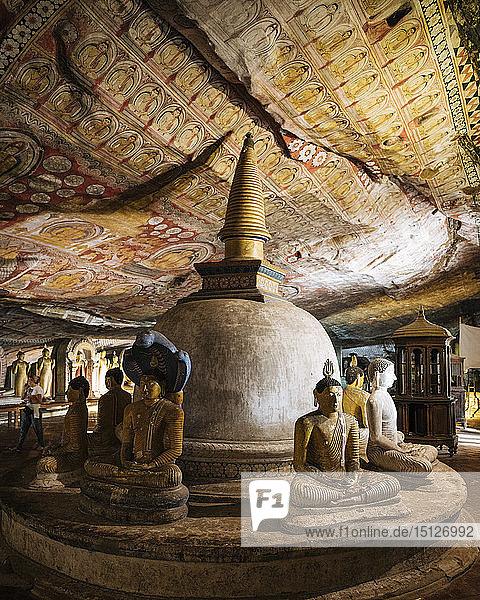 Dambulla Rock Cave Temple  UNESCO World Heritage Site  Central Province  Sri Lanka  Asia