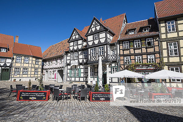 The town of Quedlinburg  UNESCO World Heritage Site  Saxony-Anhalt  Germany  Europe