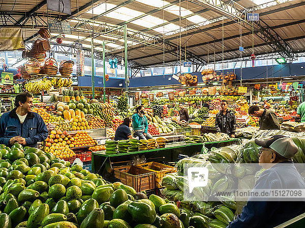 The produce section of Paloquemao market  Bogota  Colombia  South America