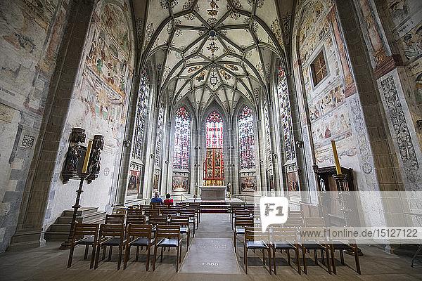 Interior of the Benedictine Abbey of Reichenau  Reichenau Island  UNESCO World Heritage Site  Lake Constance  Baden-Wurttemberg  Germany  Europe