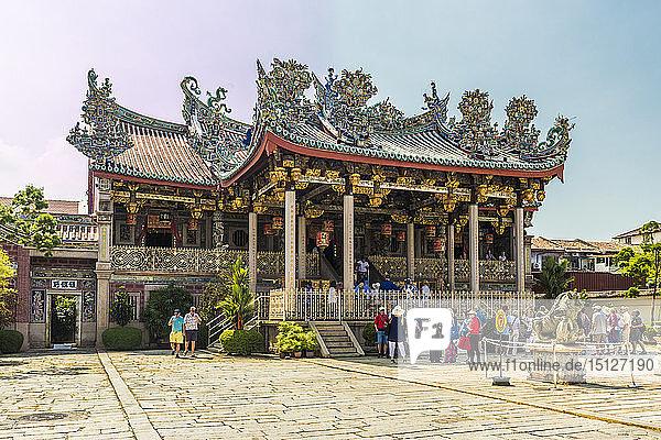 The Khoo Kongsi clan temple  George Town  UNESCO World Heritage Site  Penang Island  Malaysia  Southeast Asia  Asia