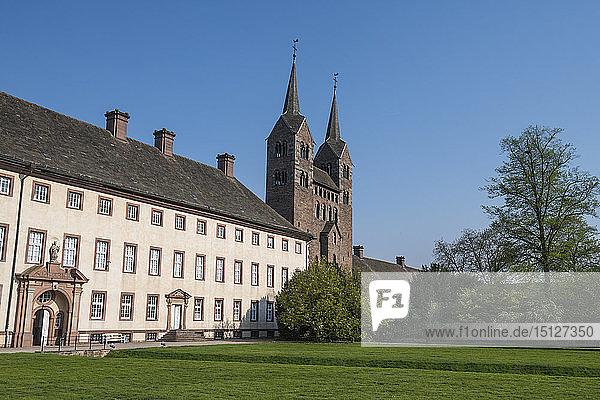 Princely Abbey of Corvey  UNESCO World Heritage Site  North Rhine-Westphalia  Germany  Europe