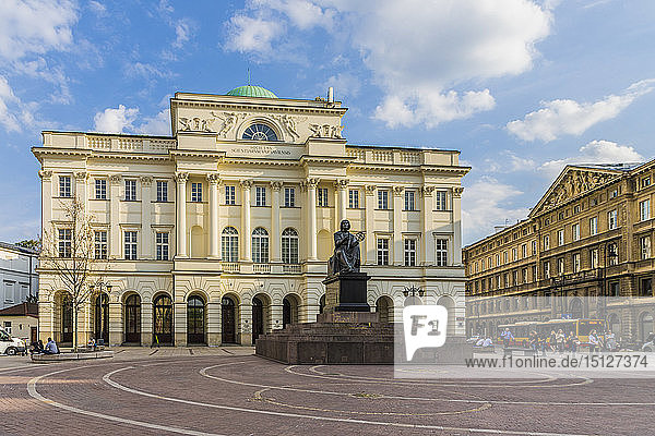 The Polish Academy of Sciences in the Old Town  UNESCO World Heritage Site  Warsaw  Poland  Europe
