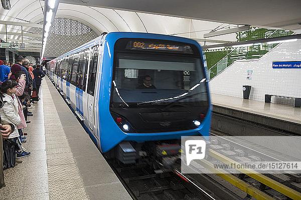 Metro of Algiers  Algeria  North Africa  Africa