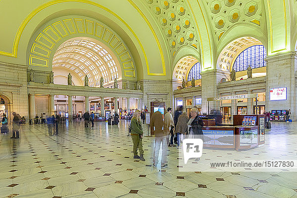 View of the interior of Union Station  Washington D.C.  United States of America  North America