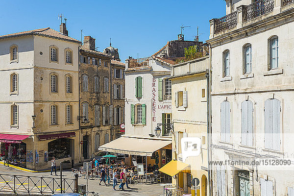 Cafe in Arles  Bouches du Rhone  Provence  Provence-Alpes-Cote d'Azur  France  Europe