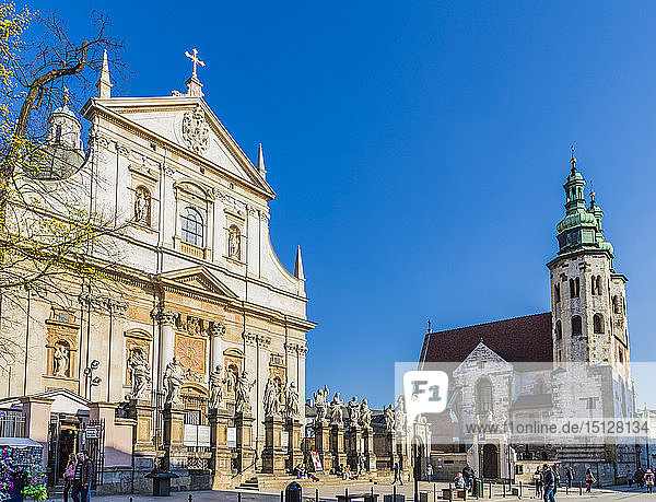 The Church of Saint Peter and Saint Paul in the medieval old town  UNESCO World Heritage Site  in Krakow  Poland  Europe