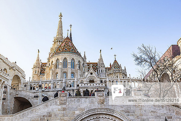 Matthias Church in Buda Castle District  UNESCO World Heritage Site  Budapest  Hungary  Europe