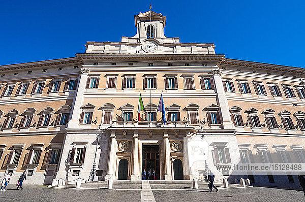 Monte Citorio Palace (Palazzo Montecitorio) seat of the Italian Chamber of Deputies  Rome  Lazio  Italy  Europe