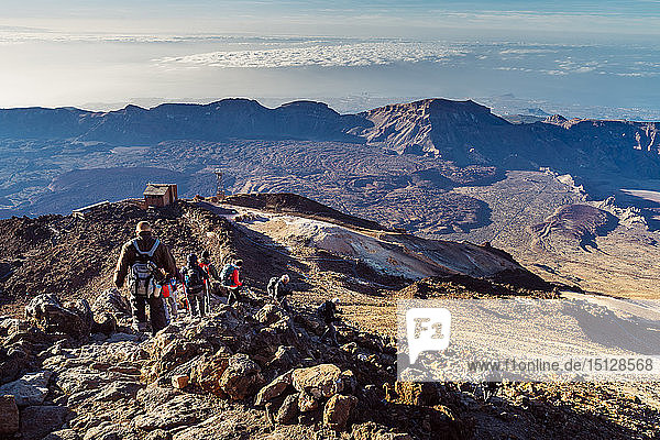 View of El Teide volcano  Teide National Park  UNESCO World Heritage Site  Tenerife  Canary Islands  Spain  Atlantic  Europe