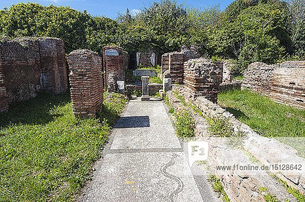 Mitreo Planta Pedis  Ostia Antica archaeological site  Ostia  Rome province  Lazio  Italy  Europe