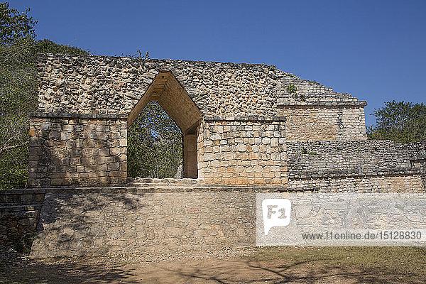 Entrance Arch  Ek Balam  Yucatec-Mayan Archaeological Site  Yucatan  Mexico  North America