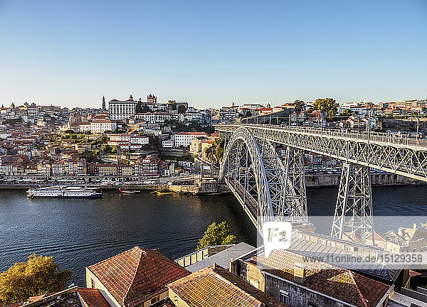 Dom Luis I Bridge  elevated view  Porto  Portugal  Europe
