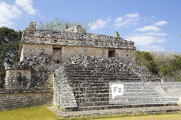 Structure 17  Ek Balam  Yucatec-Mayan Archaeological Site  Yucatan  Mexico  North America
