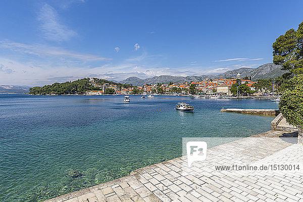 View of Cavtat on the Adriatic Sea  Cavtat  Dubrovnik Riviera  Croatia  Europe