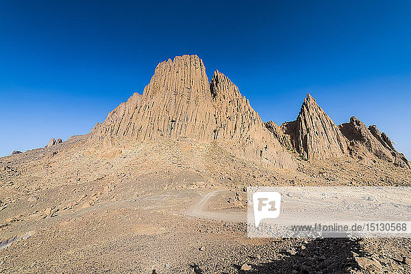 Mountains of Assekrem  Tamanrasset  Hoggar mountains  Algeria  North Africa  Africa