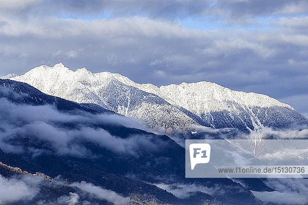Orobie Alps after a snowfall  Valtellina  Sondrio province  Lombardy  Italy  Europe