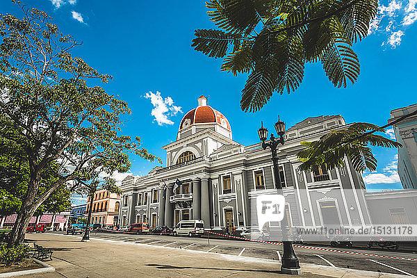 Parque Jose Marti  Palacio del Gobierno  Goverment House  Cienfuegos  UNESCO World Heritage Site  Cuba  West Indies  Caribbean  Central America