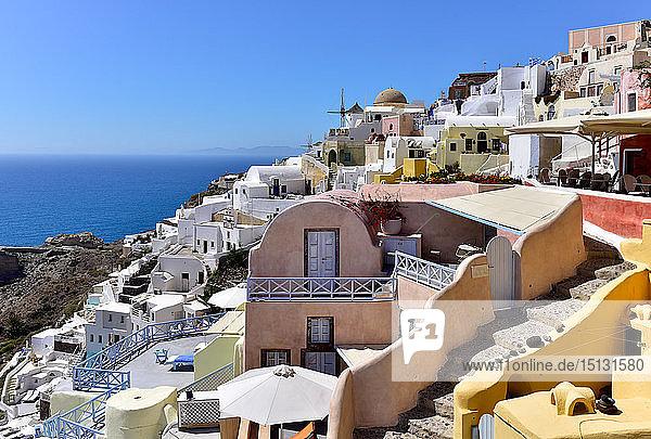 Oia  Santorini  Cyclades  Aegean Islands  Greek Islands  Greece  Europe
