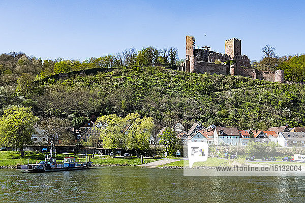 The historic town of Stadtprozelten along the Main River  Bavaria  Germany  Europe