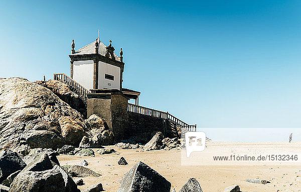 The 17th-century Capela Do Senhor Da Pedra (Chapel of the Lord of Stone) in Miramar  south of Porto  Portugal  Europe