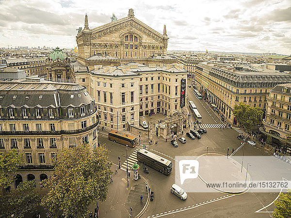 Paris Opera House from Lafayette Gallery (Galeries Lafayette)  Paris  France  Europe