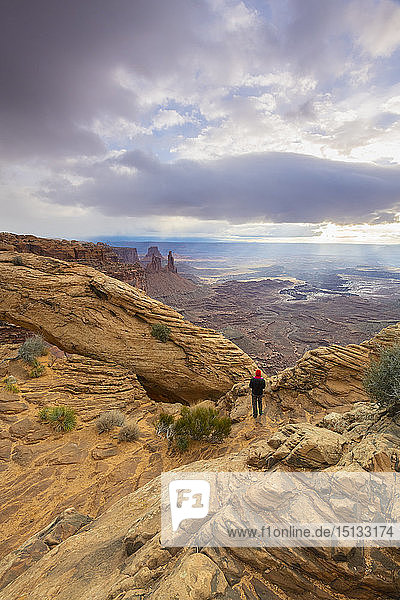 Mesa Arch  Canyonlands National Park  Moab  Utah  United States of America  North America