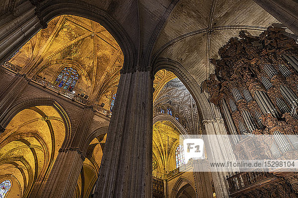 Interior of the Cathedral of Seville  Seville  Spain