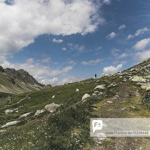Switzerland  Grisons  Davos  hiking area Flueela Pass