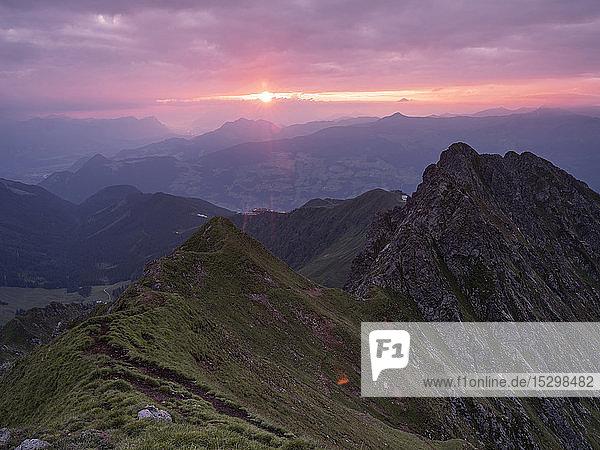 Austria  Tyrol  Inn Valley  Kellerjoch at sunrise