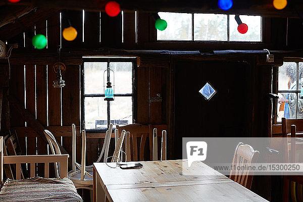 Holzmöbel in Ferienhaus