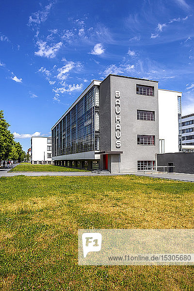 Germany  Dessau  Exterior of Bauhaus building