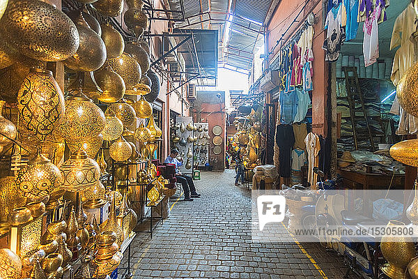 Old Bazar in Medina  Morocco