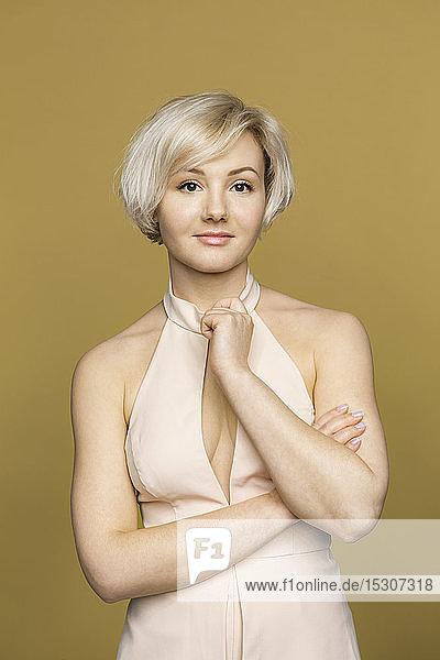 Portrait confident  beautiful young woman