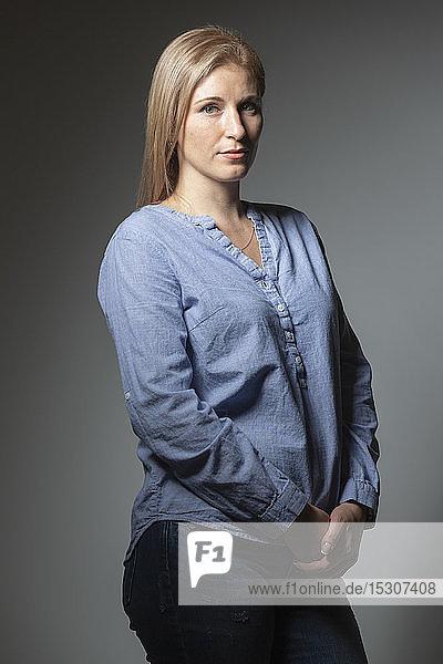 Portrait confident  beautiful woman