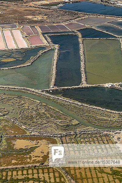 Luftaufnahme  ländliche Kulturen  Faro  Algarve  Portugal